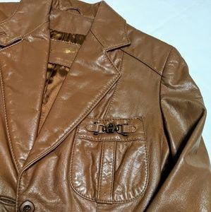 ❌🧡VINTAGE Leather Eitienne AIGNER Jacket Size 8🧡